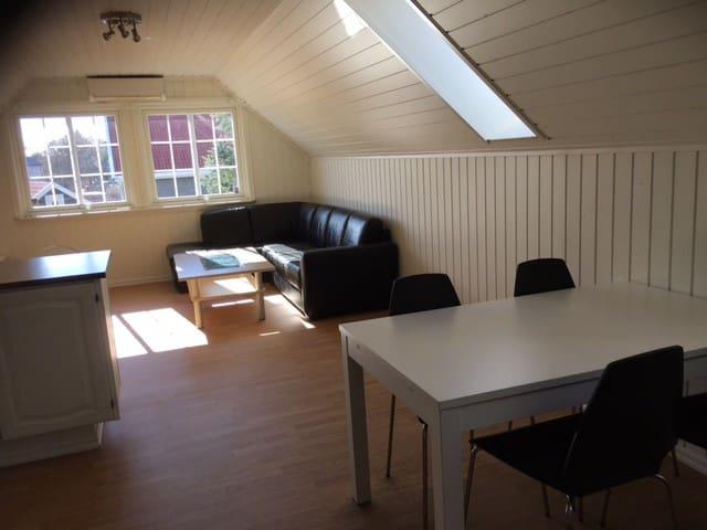 Lys leilighet sentralt i Ski, gangavstand til tog - Ski - Apartamento