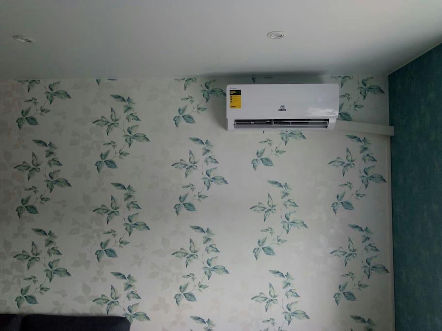 Кондиционер совсем бесшумный/ the air conditioner is quite silent