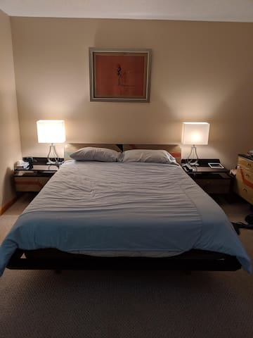 Upstairs bedroom queen size bed