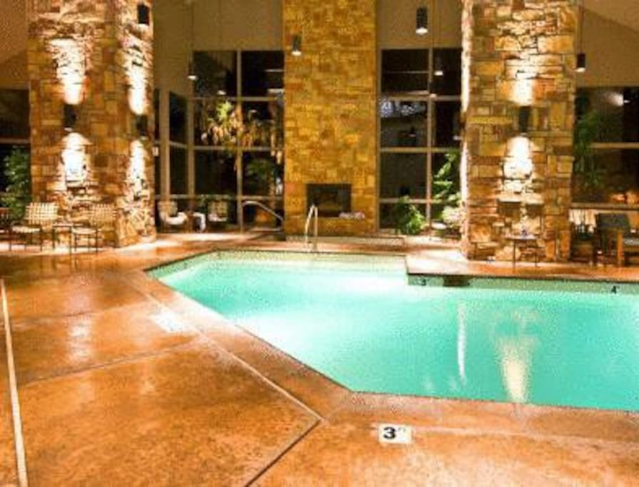 One of two pools. Hot tub and dry and wet saunas, too!