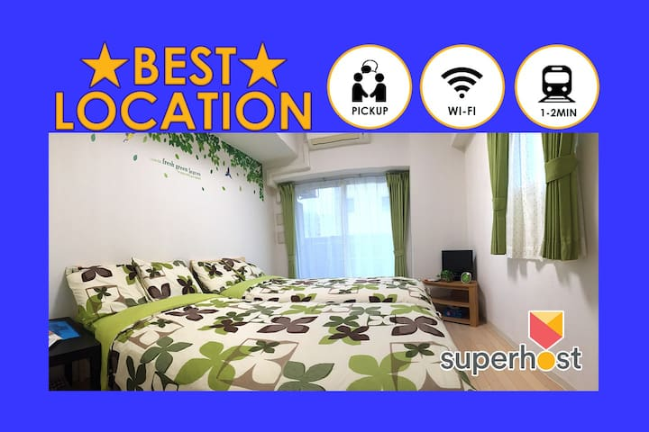 1~2min Walk from Namba Station! Free Wifi & Pickup - Naniwa-ku, Ōsaka-shi - Appartement