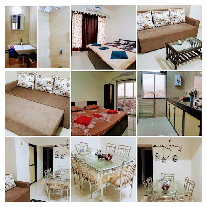 BLISS 12: SANITISED-3BR Serviced Apartment-Andheri