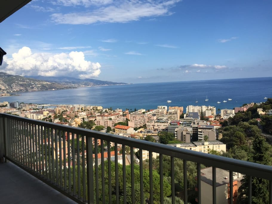 View of Italy from living room Balcony