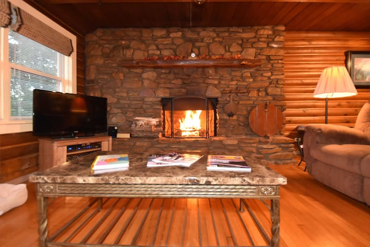 Log Cabin in Asheville, FirePlace, Hot Tub,Pool - Candler