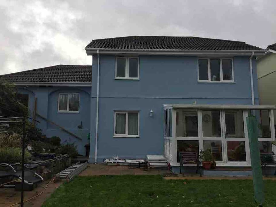 Back of newly painted house