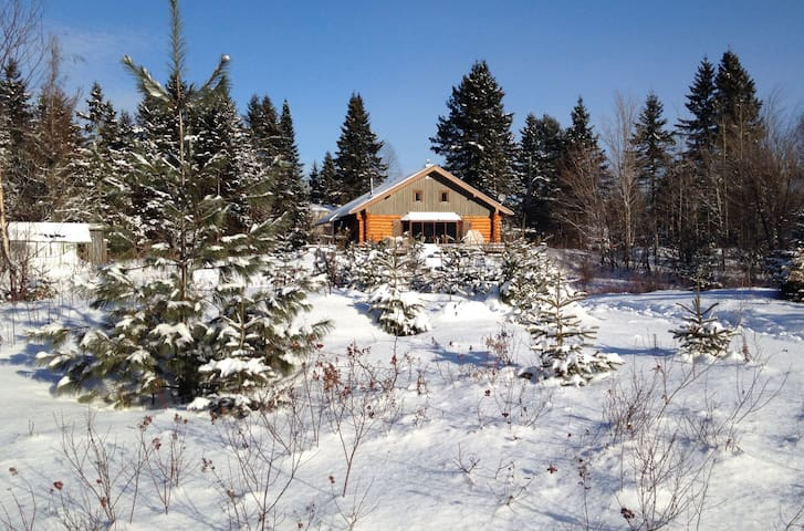 Quebec City log home with river & mountain views - Sainte-Brigitte-de-Laval