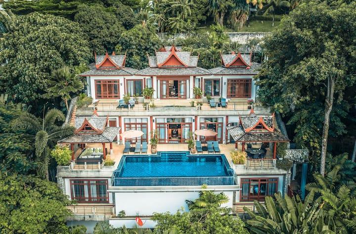 Villa Arawan  luxury  5Seaview suites 1m to beach
