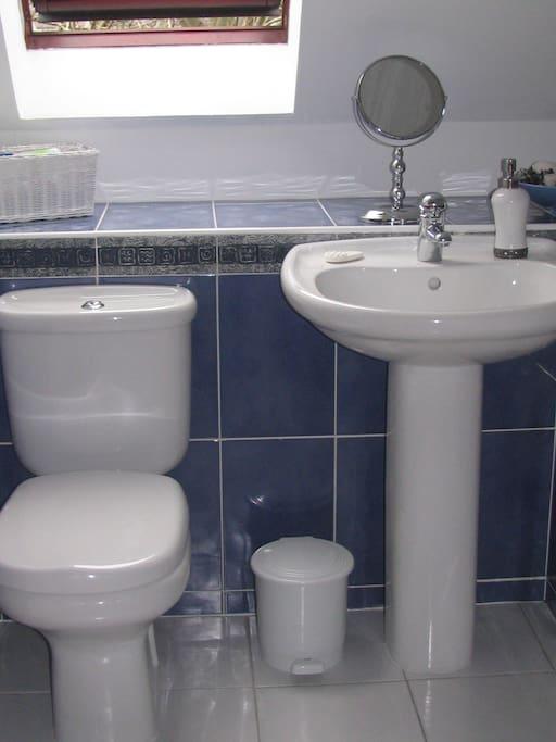 Clean crisp bathroom