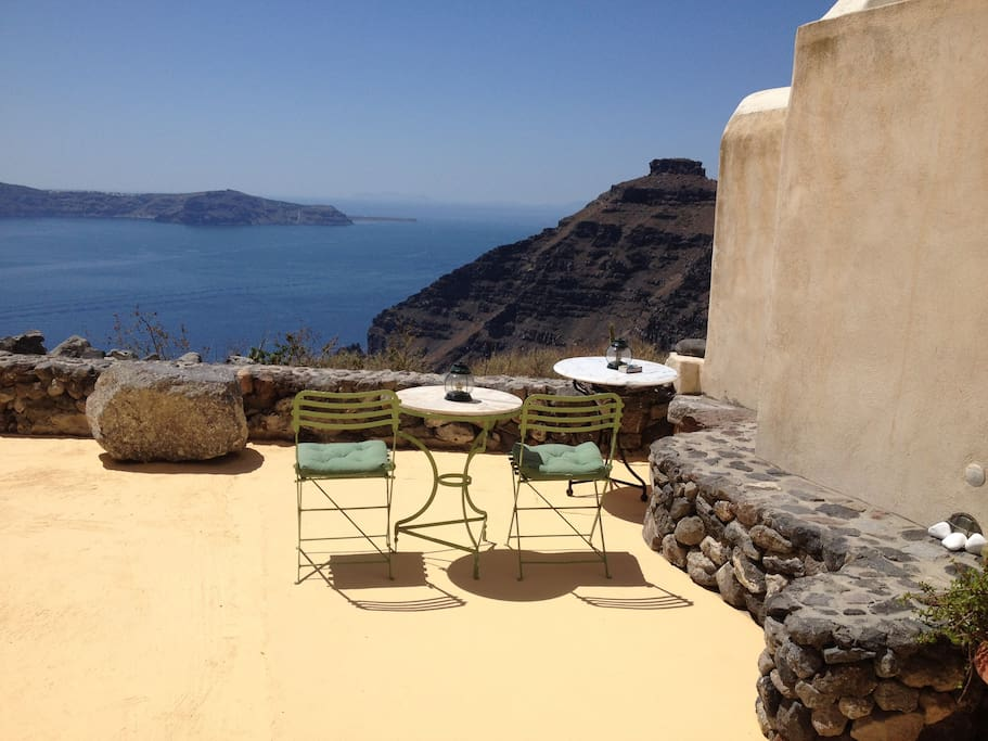 Endless views from our sandy coloured spacious terrace!