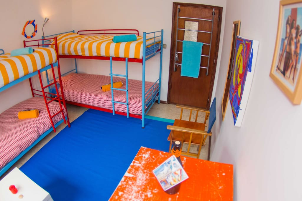 Our colorful shared room