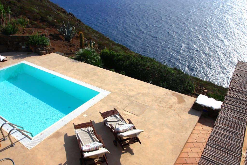 piscina privata molto riservata