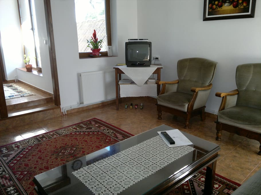 Mirela Guest House living room.