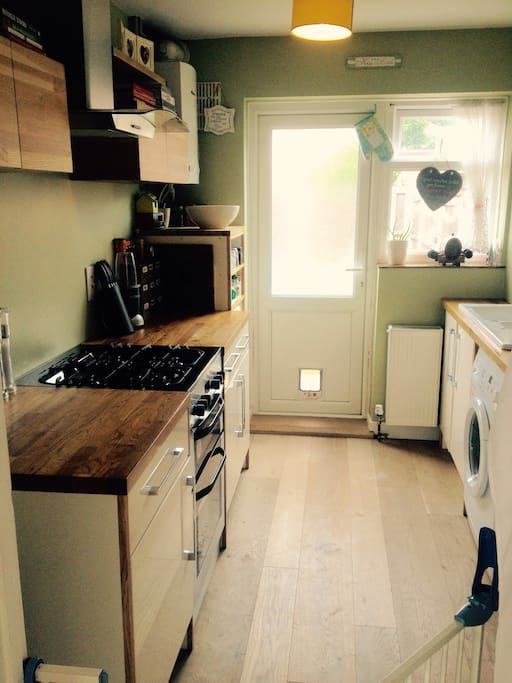Newly fitted modern kitchen with all the essentials