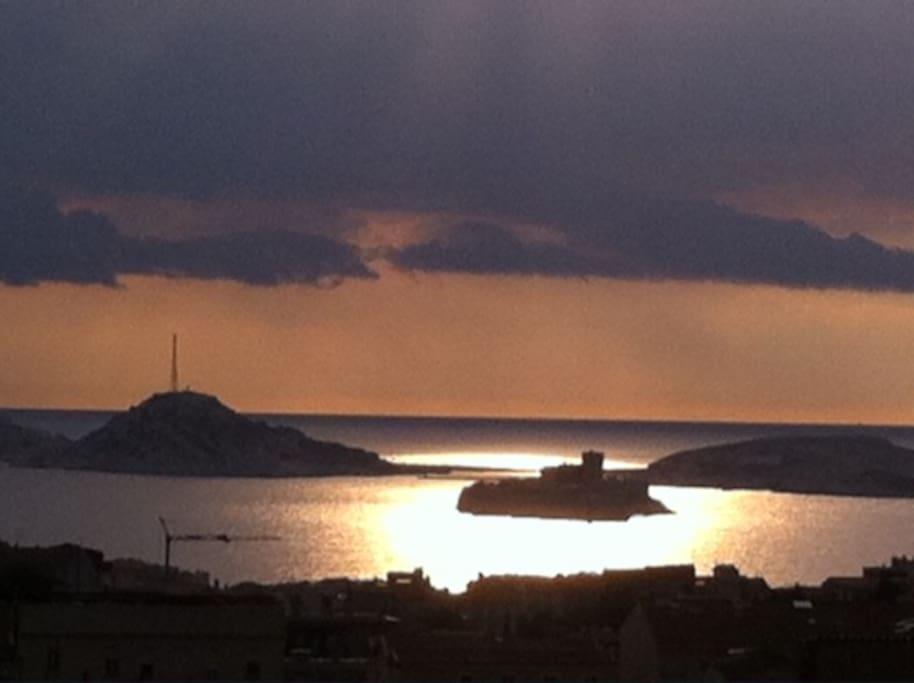 la plus belle vue de Marseille depuis la terrasse