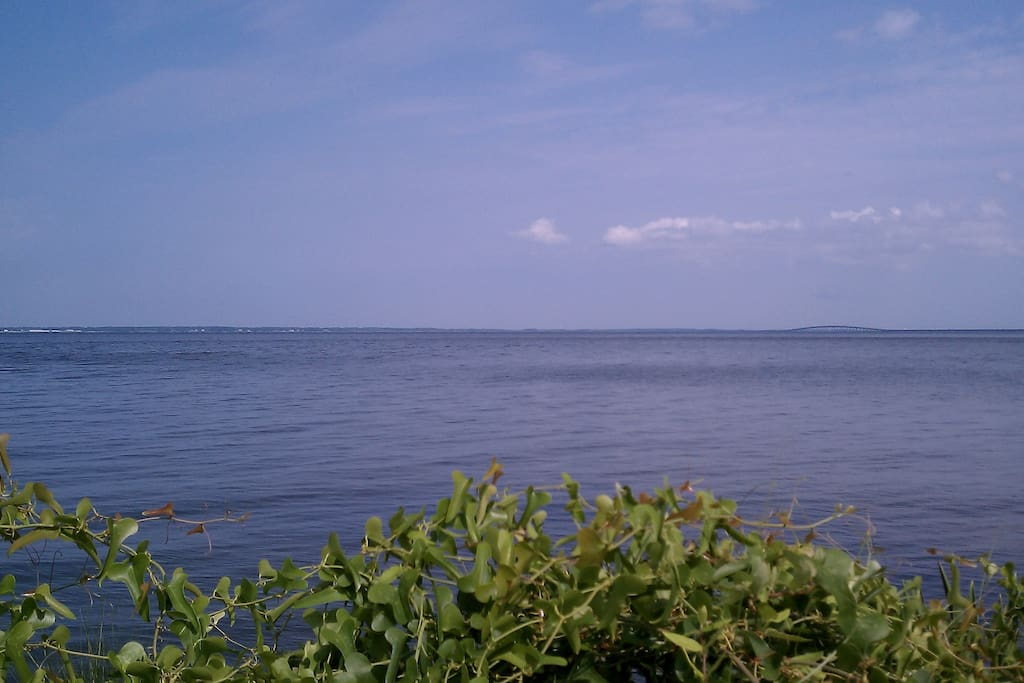 The Croatan Sound, view at camper property.
