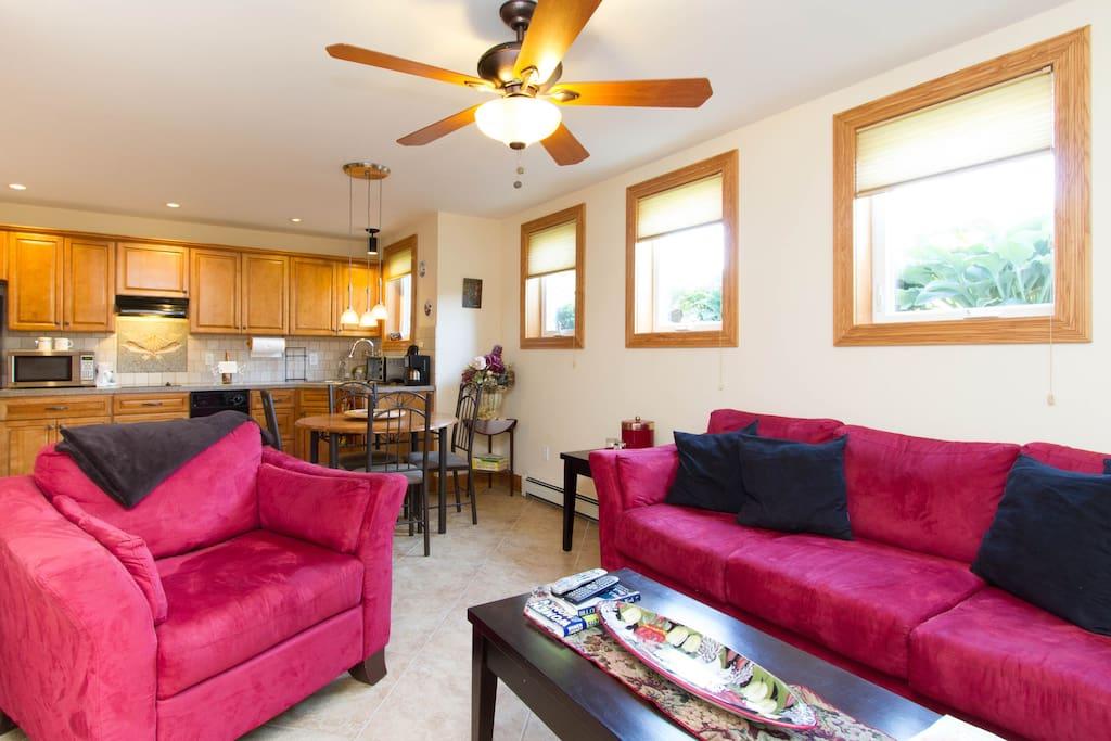 Open floor plan for Living Space