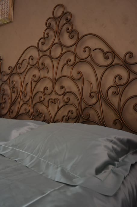 Antique headboard close up