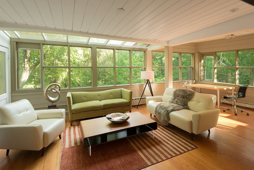 Sunroom in the trees.