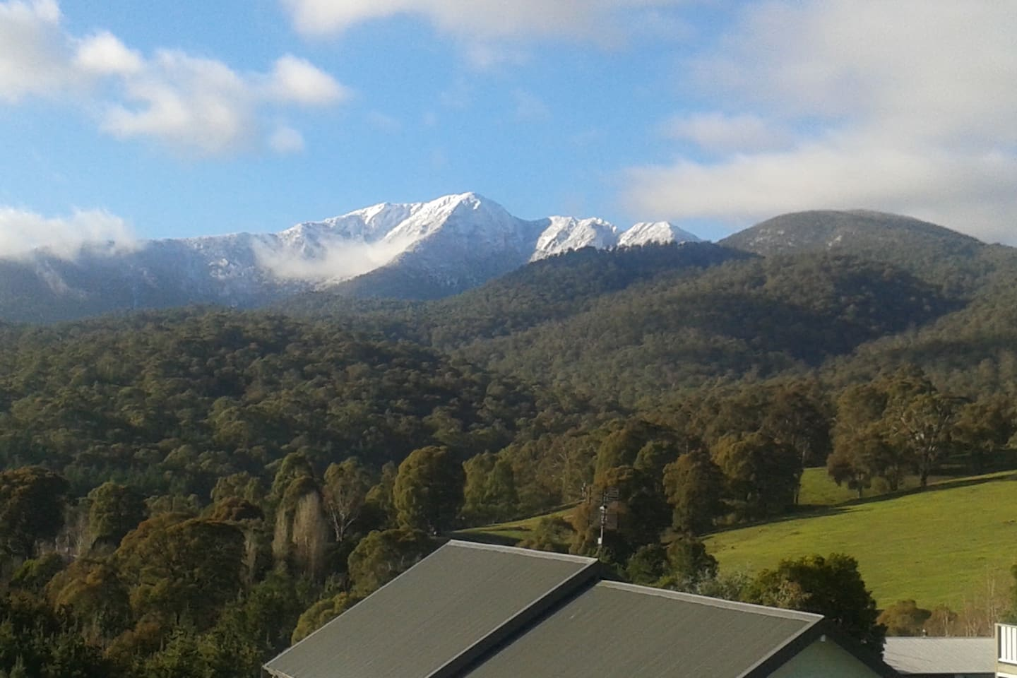 The amazing view of Mt Buller from our Alpine Abode
