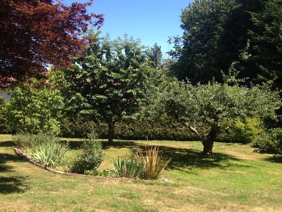 Large spacious garden.