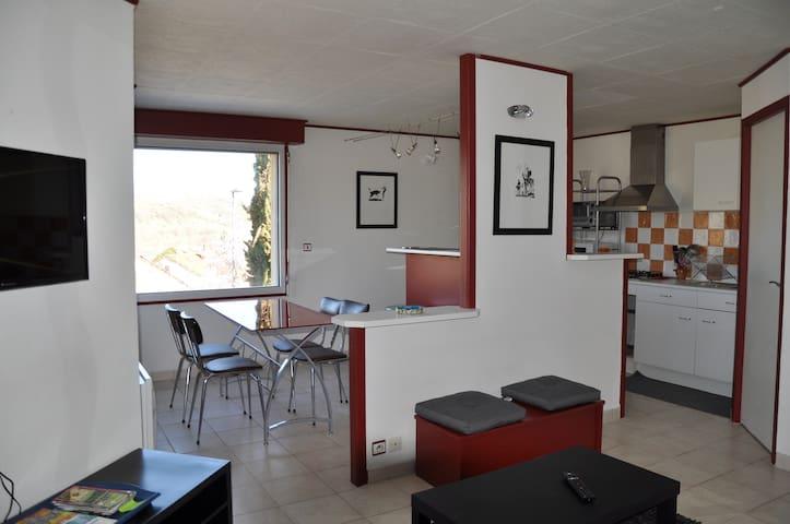 Appartement tout confort avec petite terrasse - Saint-Georges-de-Luzençon - Huoneisto