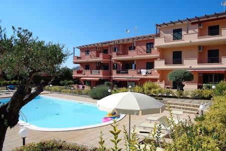 Appartamento cn piscina CapoVaticano vicino Tropea - Ricadi