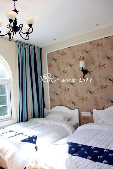 观海双床房