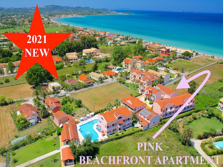Pink Acharavi Beachfront Apartment