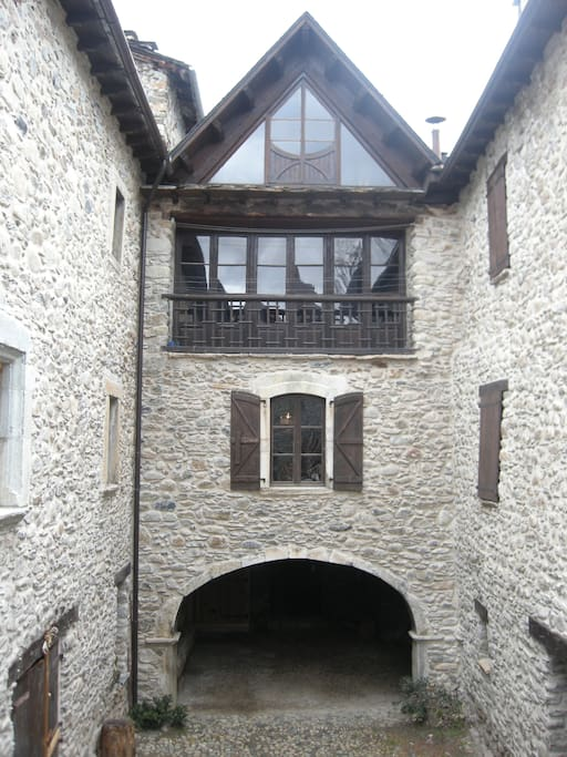 Fachada interna de Casa Mingot