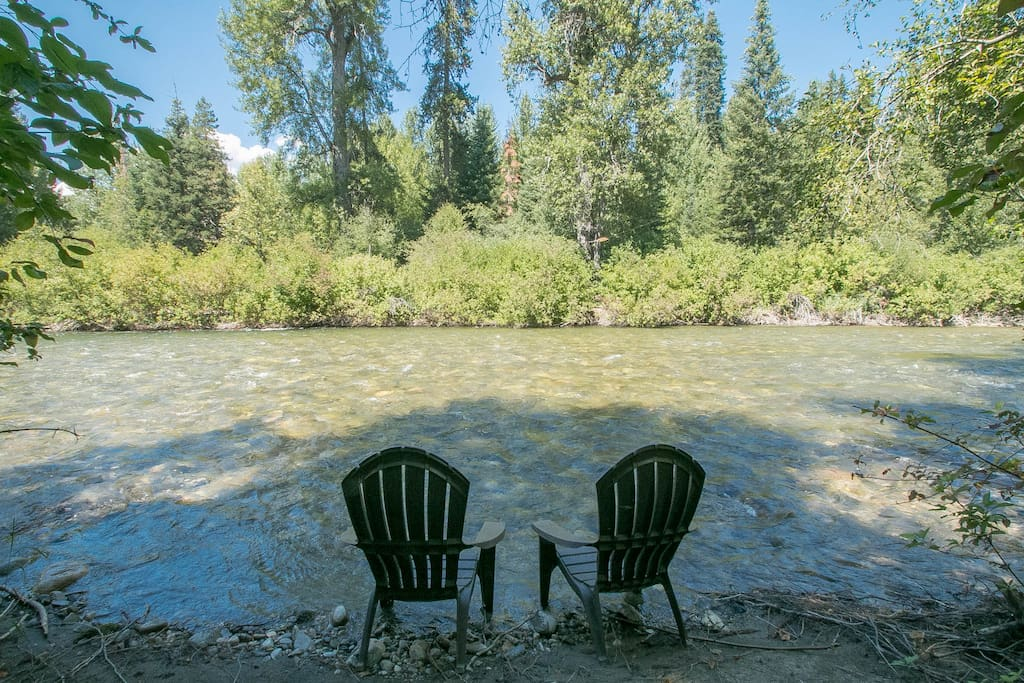 Option 2 to sit and enjoy a more private access to the river