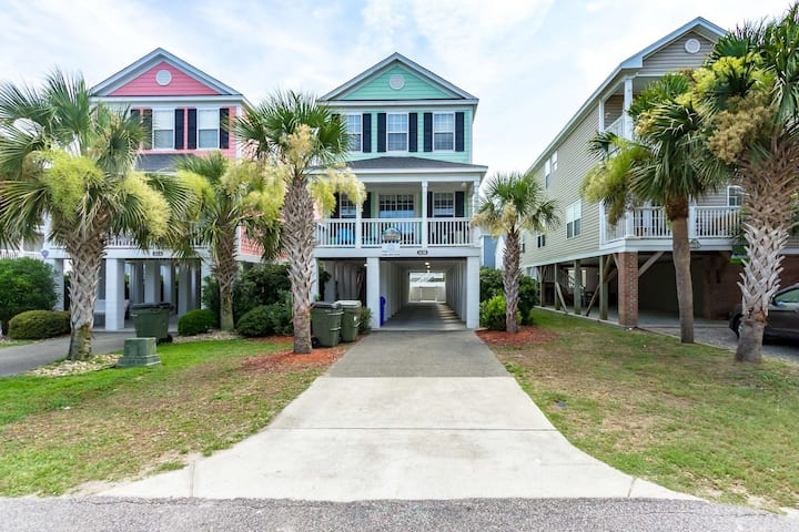 Sherbet Hermit, 5BR with Private Pool, Can be Heated, 75 Steps to Beach, Small Dog ok w/fee
