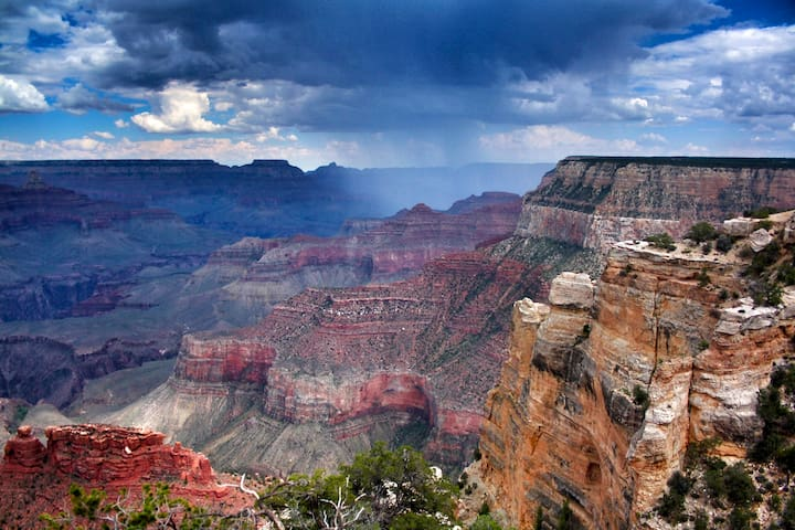 Grand Canyon during summer rain (photo from www.goodfreephotos.com)