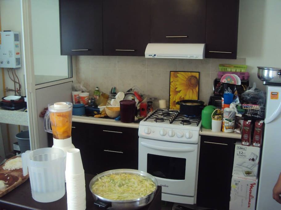 Shared kitchen, always clean and ready to use