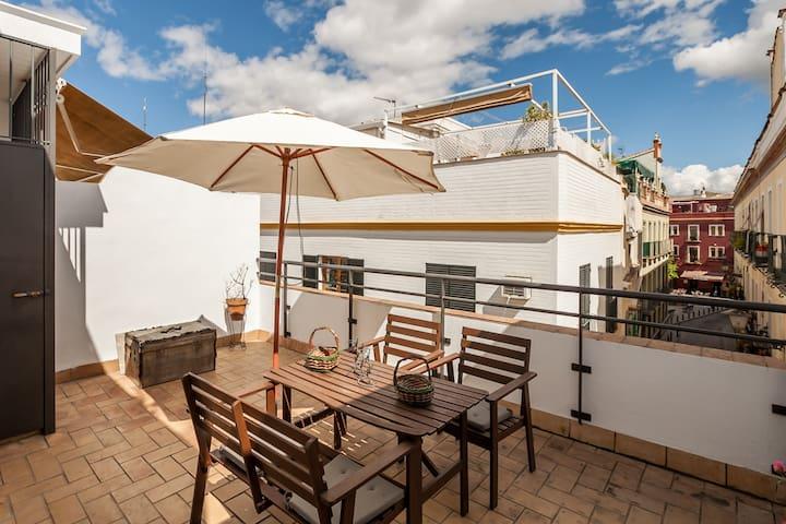 Atico con terraza en casco antiguo - Sevilla - Apartment