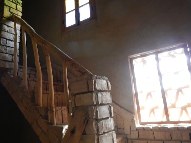 Escalier menant à l'appartement