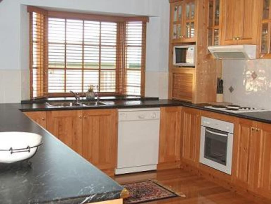 Bayview kitchen is spacious and fully equipped.