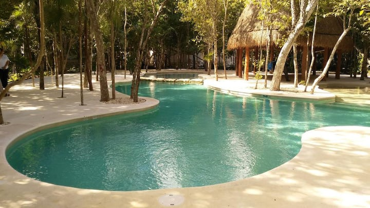 Puerto Morelos Apartment, Pool, Wifi, AC, Cable TV