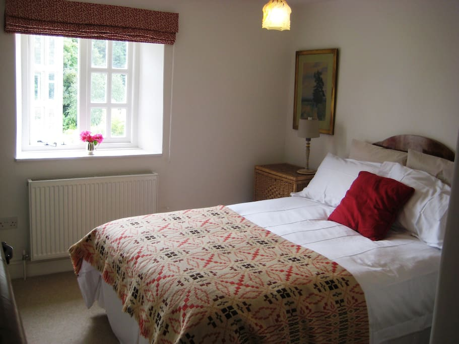 The double room with views over the garden