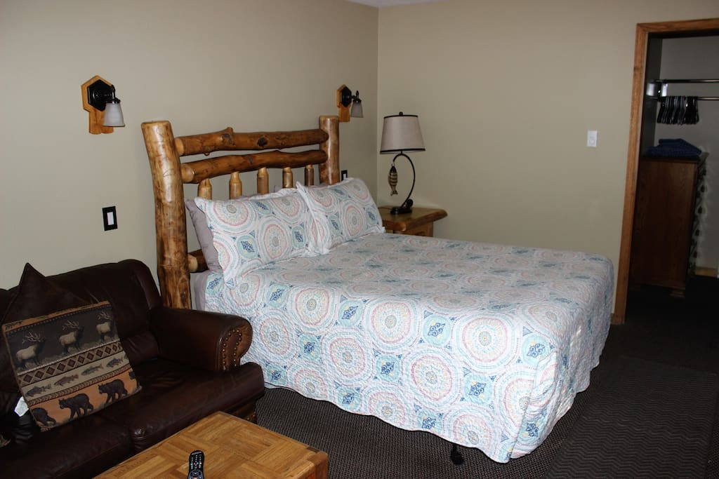 Queen Bed and Couch