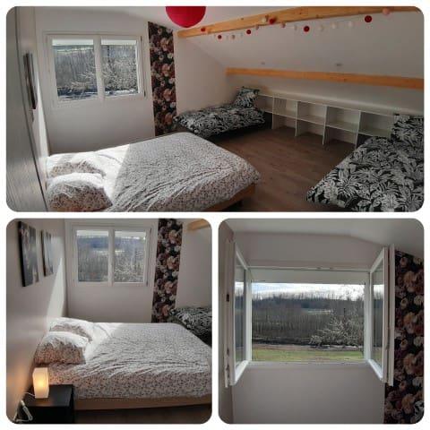 Chambre 2 à l'étage 25m²