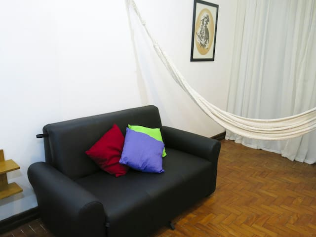 Sofa bed for two plus hammock!
