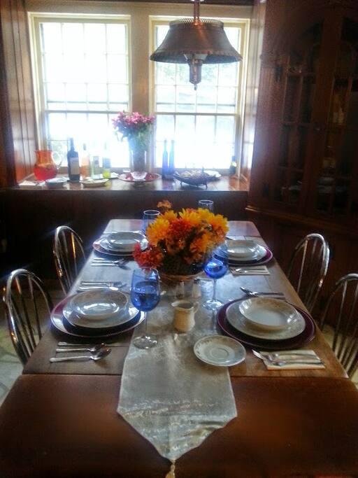 Dining room on bottom floor.