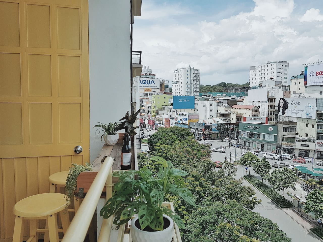 Private & chilling balcony with an extraordinary view.
