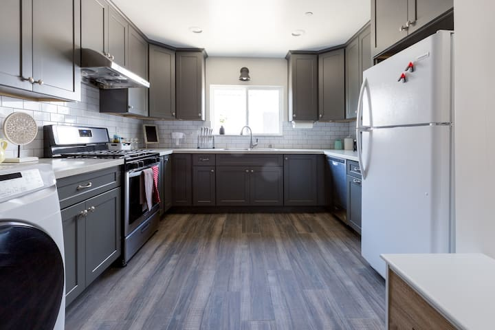 Full size kitchen fill with cooking essentials.