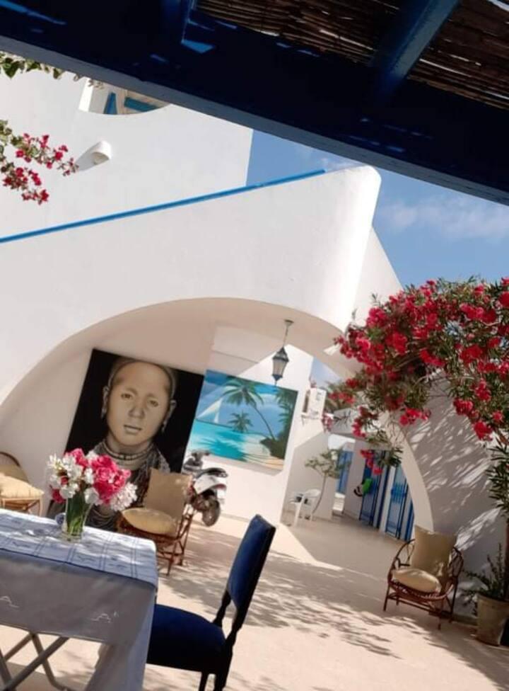 maison d'hôtes chez Lotfi à Djerba près de la mer