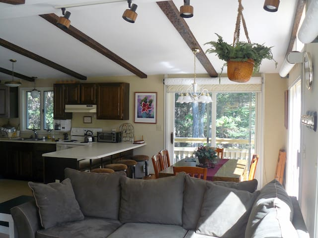 Open floor plan with updated furnishings.