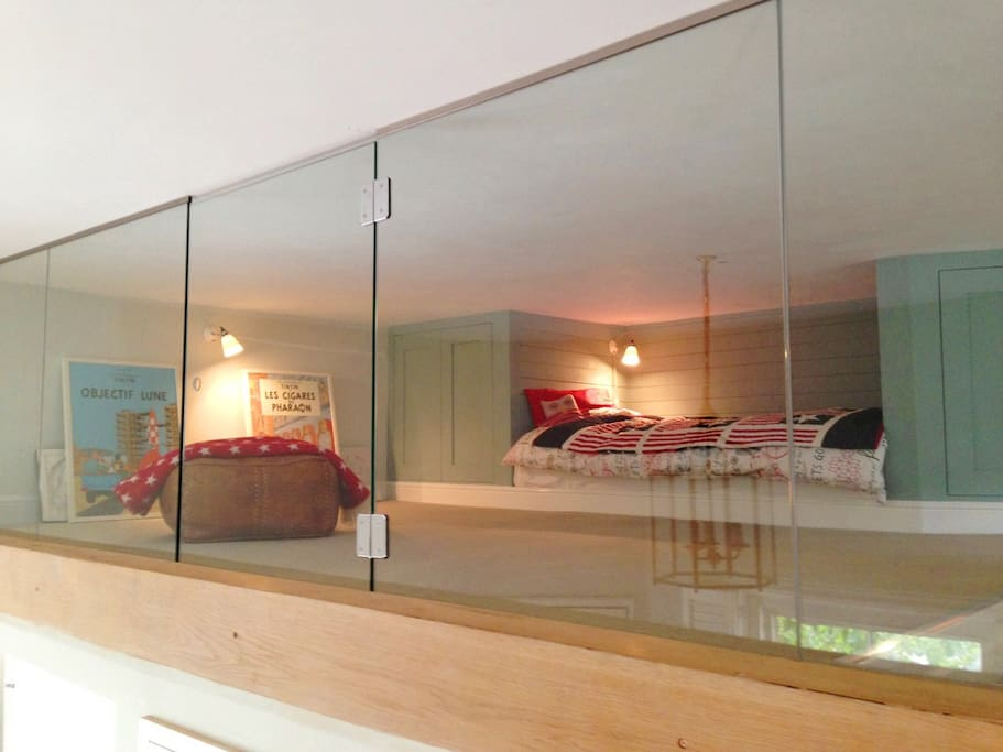 The children's Mousehole Mezzanine room with cosy box bed
