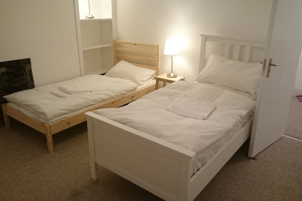 Feather/down duvets and pillows (Synthetic also available) and towels supplied.