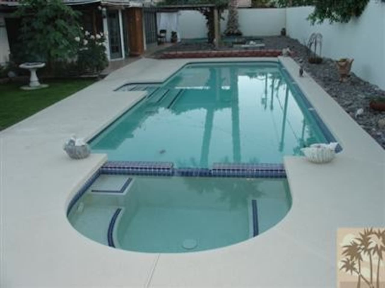 Lap Pool (not heated) Spa (can be heated) Please let us know when you would like the spa heated.