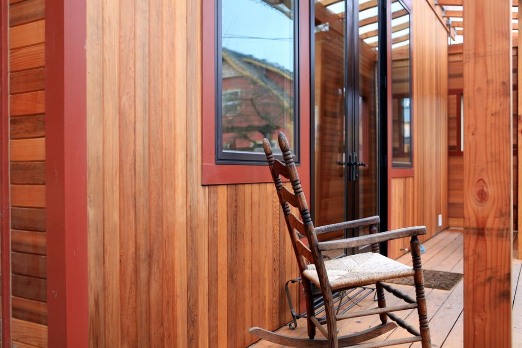 Enjoy sitting on the porch